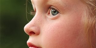 closeup of child's face