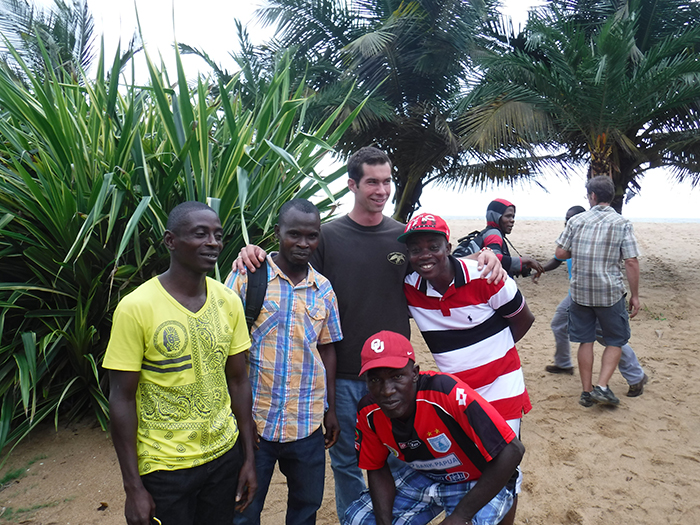 Roy and some of his new friends in Liberia