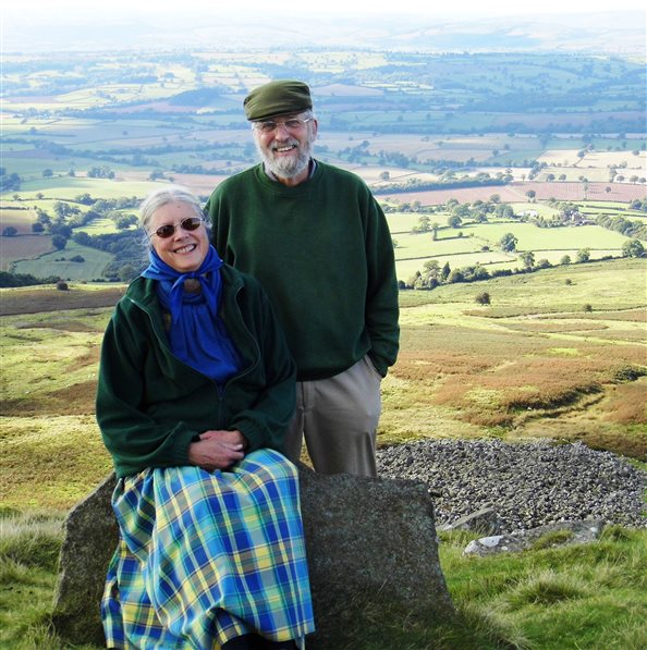 David and Ann Morrissey on an English hilltop