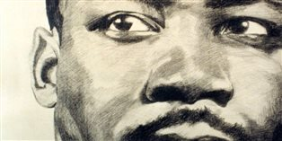 Image of a pencil drawing of Martin Luther King Jr.