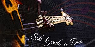 Solo le pido a Dios with electric guitar