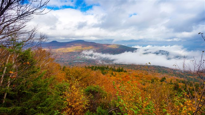 mist rising in the Catskill Mountains