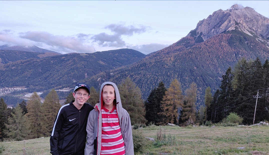 Andrew's sons in the Austrian Alps.