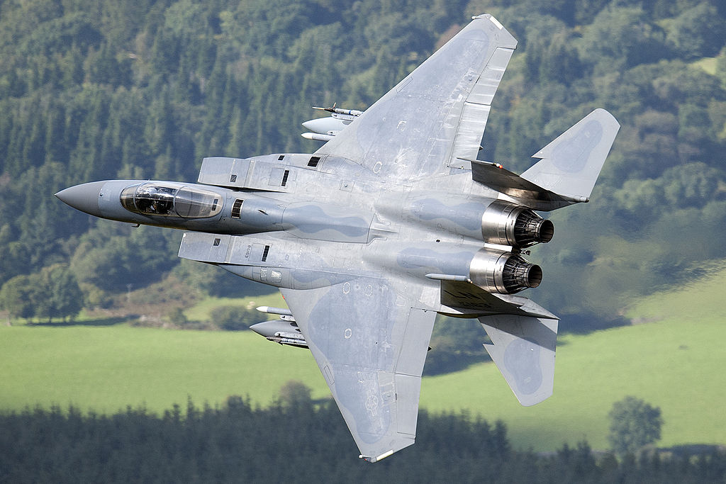 Eagle in Mach Loop over Wales, by Peng Chen